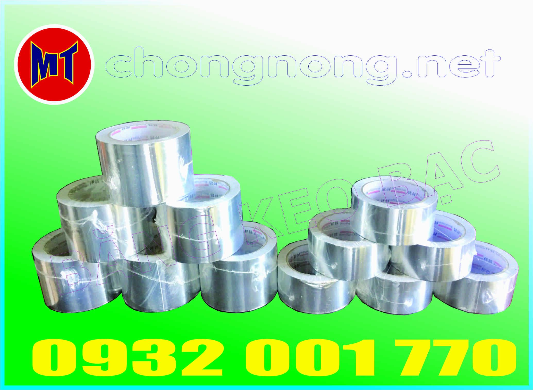 hình ảnh sản phẩm Băng keo bạc, băng keo nhôm, băng keo cách nhiệt bản rộng 75mm