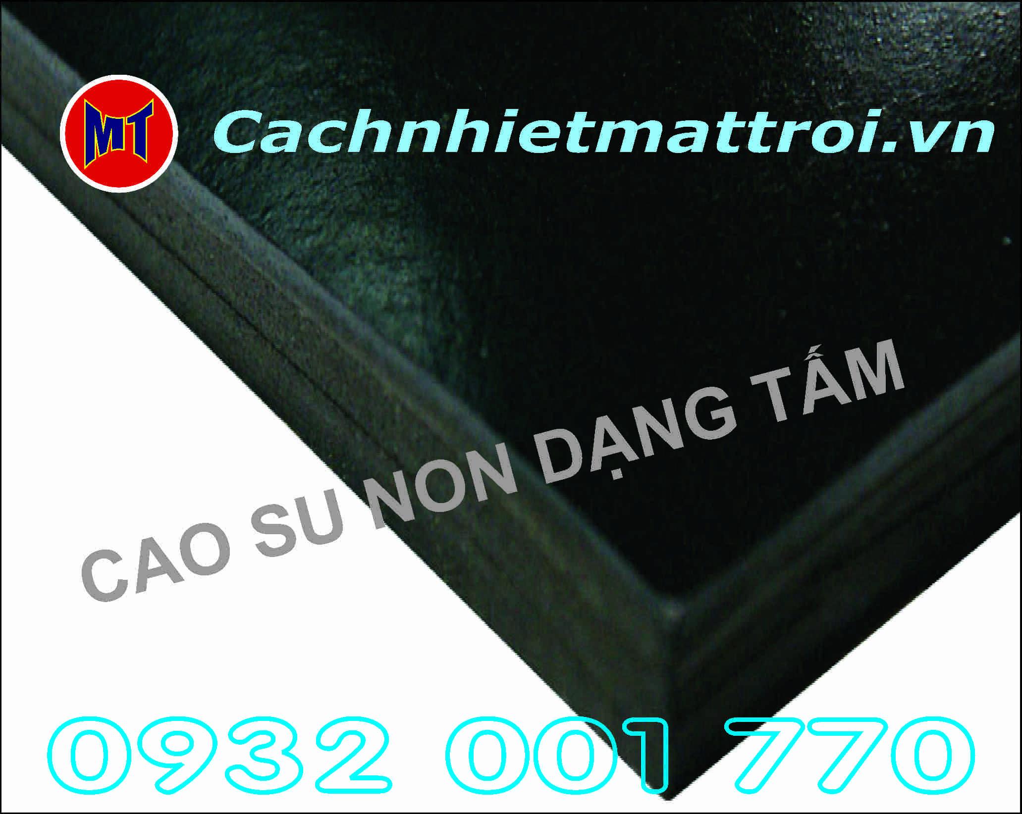 hình ảnh sản phẩm Cao su non cách âm chống rung dạng tấm dày 20mm - Rubber Sheet - D20