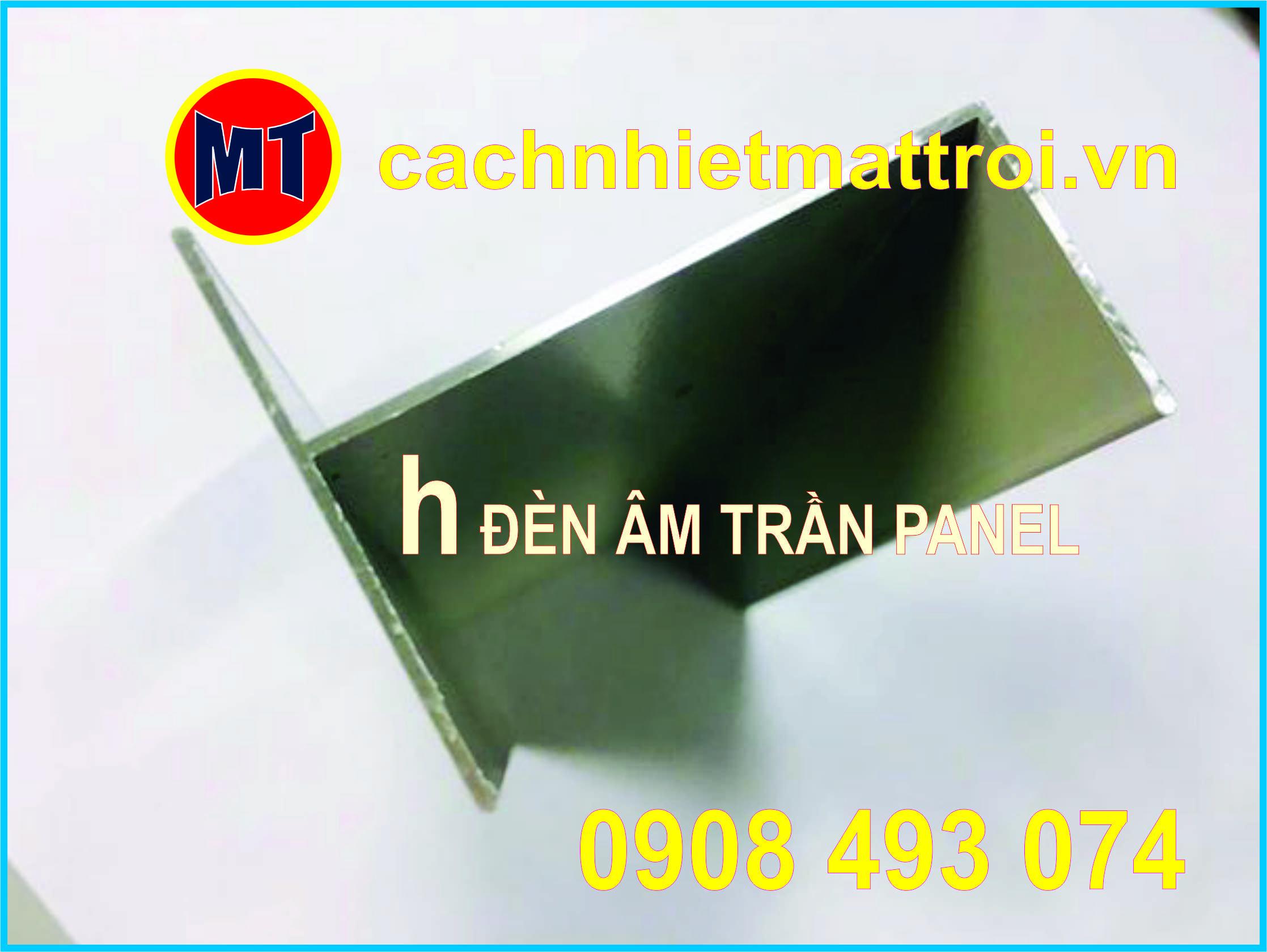 hình 1 h nhôm lắp đèn âm trần - Phụ kiện cho panel phòng sạch