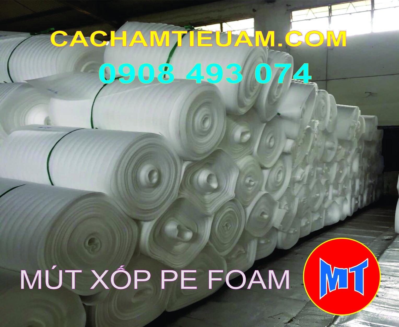 hình 2 Màng PE foam trắng dày 0.5mm - 0.5T dùng bọc lót , gói hàng