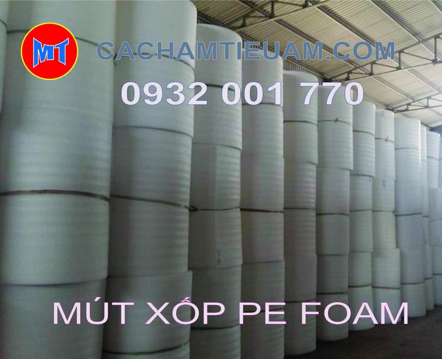 hình 1 Màng PE foam trắng dày 0.5mm - 0.5T dùng bọc lót , gói hàng
