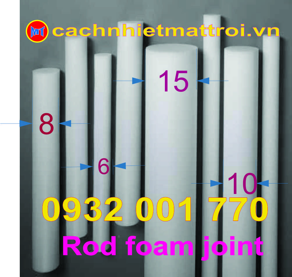 hình ảnh sản phẩm MÚT TRÒN CHÈN KHE PHI 6mm - PE  FOAM JOINT