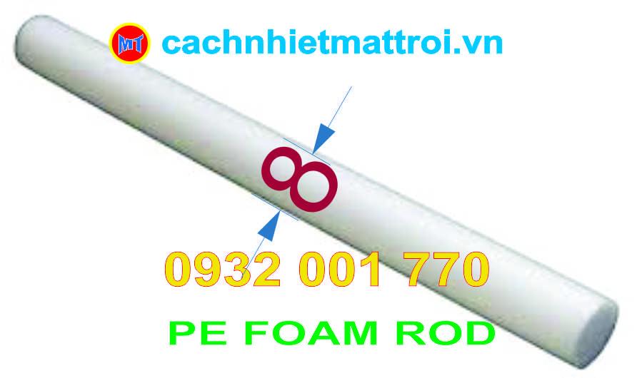 hình ảnh sản phẩm Ron Rod PE Foam Đường kính 8mm - Ron mút xốp tròn chèn khe phi 8mm
