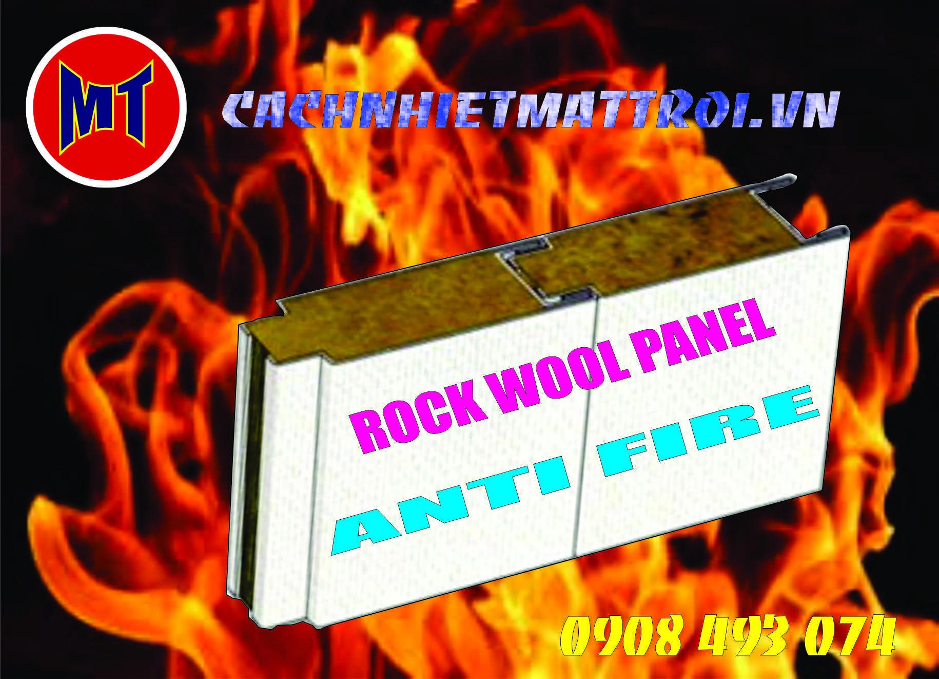 hình 3 Tấm cách nhiệt Panel 2 mặt tôn lõi bông Rockwool chống cháy