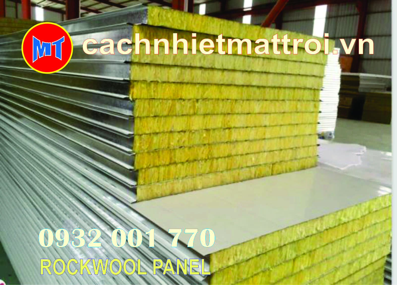 hình ảnh sản phẩm Tấm cách nhiệt Panel 2 mặt tôn lõi bông Rockwool chống cháy