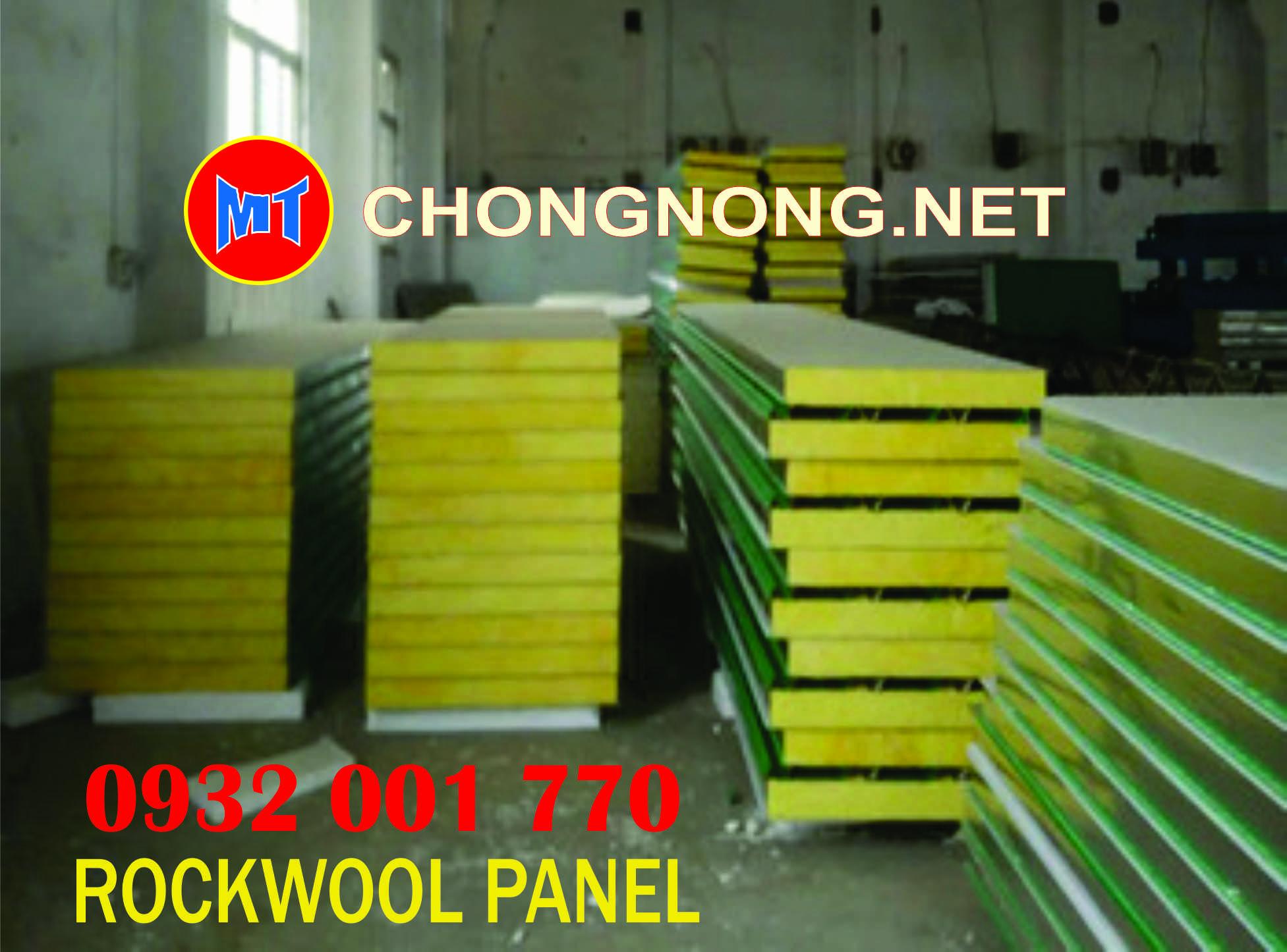 hình 2 Tấm cách nhiệt Panel 2 mặt tôn lõi bông Rockwool chống cháy