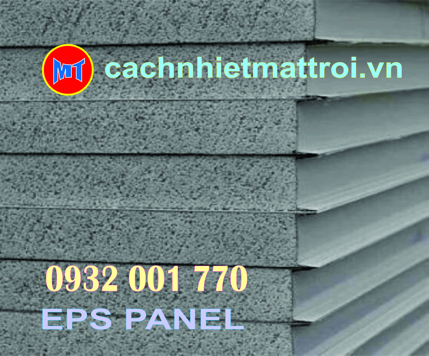 hình 2 Tấm cách nhiệt Panel EPS 2 mặt tôn mạ màu.