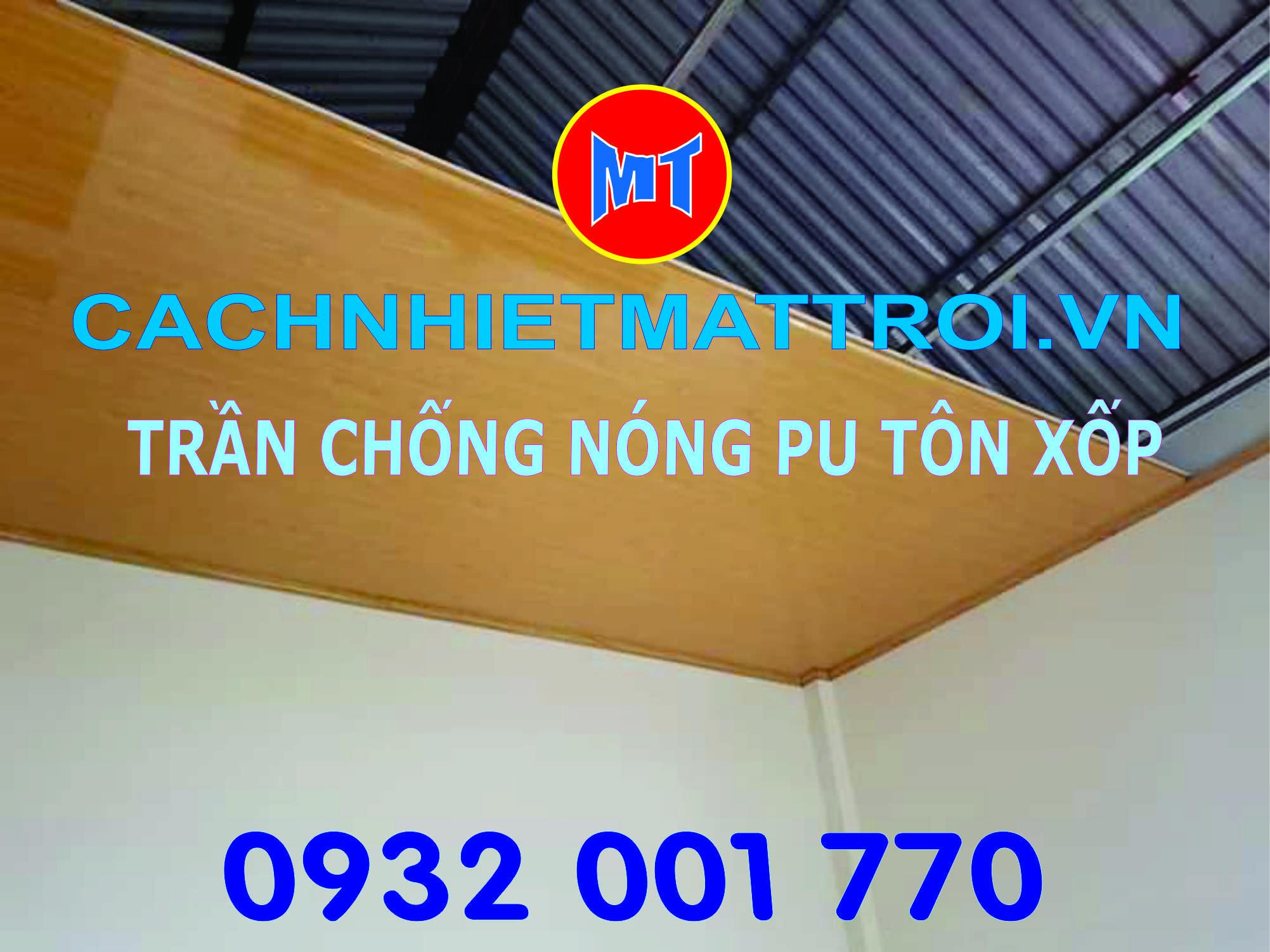 hình 3 Tấm cánh nhiệt lõi PU mặt tôn làm trần nhà vách tường chống nóng